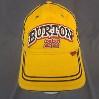 Ward Burton 22 StrapBack Hat Cat Racing Yellow Baseball Cap Nascar