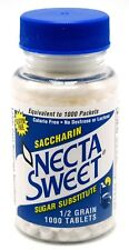 9 1000-Tablet Bottles 1/2 Grain Necta Sweet Saccharin Tablets NectaSweet