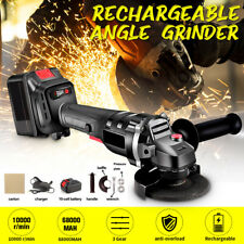 3 Gear Speed Brushless Angle Grinder Sander Battery Cutting Grinding Tools