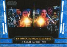 Star Wars 40th Anniversary Blue Base Card #84 Star Wars Roleplaying Game Core R
