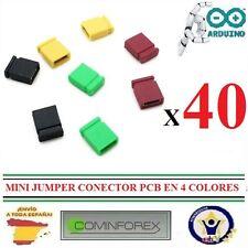 40 Mini Jumper Conector PCB a 2.54mm Pin Header Arduino Robotica 3D  ESPAÑA  B26