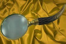 Lupe Bein Messing L.27cm handlich praktisch Vintage Tisch Deko Vintage Geschenk