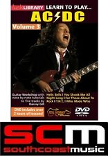 LEARN TO PLAY AC/DC 5 SONGS NOTE-FOR-NOTE LICK LIBRARY ACDC VOLUME 3 DVD