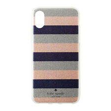 Kate Spade New York Apple iPhone X / XS Glitter Striped Phone Case Back Cover