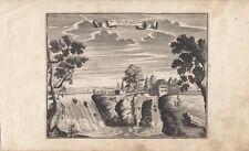 Narowafall Wasserfall Narva Estland Baltikum Orig Kupferstich 1720 Stridbeck