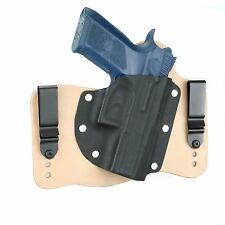 FoxX Leather & Kydex IWB Hybrid Holster CZ 75 P-07 Natural/Tan Right Tuckable