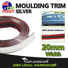 3.8M Chrome Silver Moulding Trim Strips Window Door Bumper Mirror Side Decorate