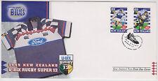 (SSA-92)1999 NZ FDC 2stamps U-BIX super12 Blues rugby(C