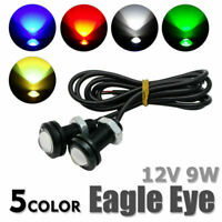 Car Motorcycle 9W LED Eagle Eye Daytime Running DRL Tail Light Backup Lamp 12V