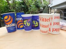 Lot de 600  GOBELETS PUBLICITAIRES /    Orangina -Vittel-Perrier...