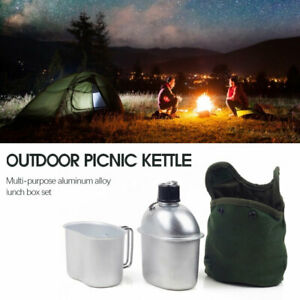 Kettle Camping Lunch Box Ultra-light 0.9L Army Water Bottle Cooking Cup Sports