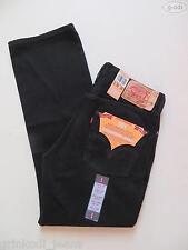 Levi's® 501 Jeans Hose, W 33 /L 30, schwarz, NEU ! Black Denim mit Knopfleiste !