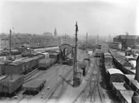 Exterior yard of Bishopsgate Goods Depot, London, 1924. OLD RAILWAY PHOTO