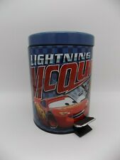 """Cars Lightning McQueen and Mater Step On Wastebasket 11"""" Tall with Liner Basket"""