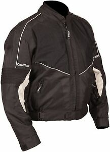Buffalo Coolflow Black Textile Mesh Summer Motorcycle Jacket New
