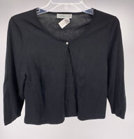 Women's Coldwater Creek Black Cardigan Size M
