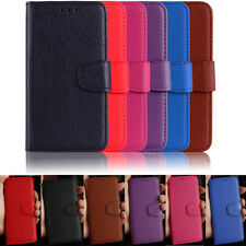 Litchi Leather wallet flip stand pouch Cover Case For Samsung Huawei Sony Xiaomi