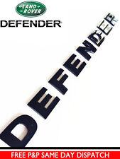 DEFENDER GLOSS BLACK 3D BONNET LETTERING LAND ROVER 90 110 LETTERS BADGE Emblem