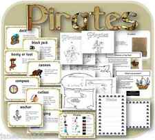 KS1 EYFS topic PIRATES Display Activities PowerpointsTeaching Resources on CD