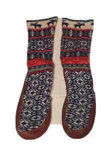Acorn Original Slipper Socks - Size M 6-7  W  8-9 Holiday Theme