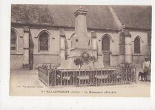 Hallencourt Le Monument 1870-1871 France Vintage Postcard 709a