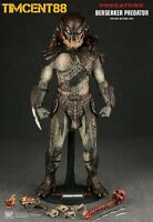 "Ready Hot Toys MMS130 Predators - 1/6 Berserker Predator Figure 14"" New"