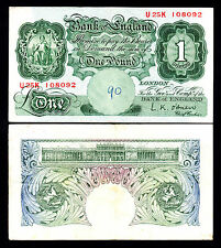 Bank of England L.K. O'Brien 1 Pound Note 1955-60 Fine/+ Note