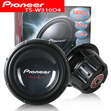 "Pioneer TS-W310D4 12"" Dual 4-Ohm 1400 Watts Champion Car Subwoofer"