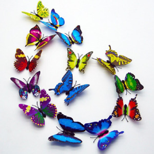 12PCS Glow In Dark 3D Luminous Butterfly Home Decoration Christmas Ornament Gift
