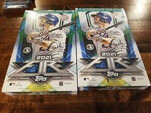 2021 Topps Fire MLB Fire Baseball Trading Card Hobby Box SEALED + 2 Autographs