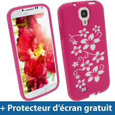 Pink silicone case cover for samsung galaxy s4 IV i9500 android smartphone