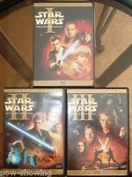 ✅ Star Wars: Prequel Trilogy I II III 1 2 3 Widescreen Dvd 100% Authentic ⭐⭐⭐⭐⭐
