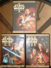 Star Wars Prequel Trilogy 3 Dvds Widescreen Lucas Action Films Episodes 1 2 3