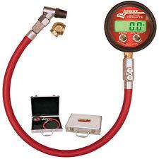 LONGACRE PRO DELUXE DIGITAL TIRE PRESSURE GAUGE,0-60 PSI,53000,ANGLE & BALL