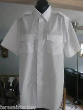 Shirt Mens Cintas white short sleeve 15 T NEW aviator shoulder button front9.99