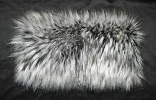SIBERIAN WOLF LUXURIOUS FAUX FUR MUFF HAND WARMER NEW!