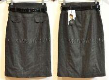 BNWT CUE wool mix highwaist work skirt with belt Sz 6 $185
