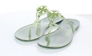 13-53  $98 Women's Sz 7 M Tory Burch Mini Miller Jelly Logo Flat Sandals