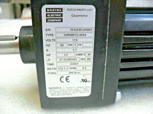 BODINE 34R6BFC1-WX4 Fixed Speed AC Gearmotor ratio 172.1:1