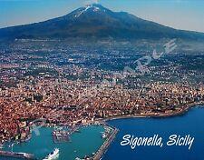 Italy - Sicily - SIGONELLA - Travel Souvenir FLEXIBLE Fridge Magnet