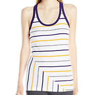 Soffe Women's Jr Stripe Tank Cotton, Purple/Gold, X-Large - Free Shipping!
