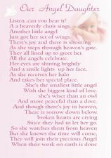 Our Angel Son Daughter Baby Grandchild memorial bereavement grave card c40