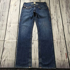 Men's True Religion Jeans 32 x 33 Ricky Shape Straight Leg Jeans Blue RRP £180