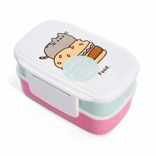 Pusheen Double Decker Sandwich Bento Lunch Box avec Coutellerie