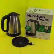 HAMILTON BEACH Stainless Steel Electric Cordless Kettle 7.2 CUP 40993E #kettle