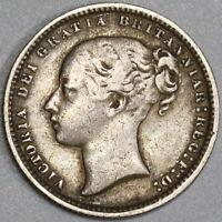 1873 Victoria Shilling Die 95 Great Britain Silver Coin (19071514R)