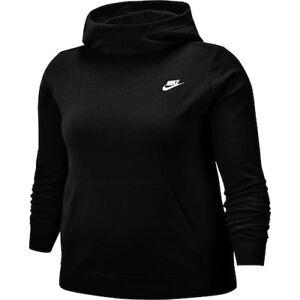 Nike Women's Funnel Neck Fleece HOODIE Sweatshirt (Plus Size 2X) NWT MSRP $50