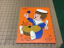 Original: PLAYSKOOK - LITTLE JACK HORNER 16 pieces -- wooden frame tray puzzle