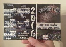 NEW ORLEANS ZEPHYRS 2016 SCHEDULE MAGNET FINAL SEASON AS ZEPHYRS BABYCAKES