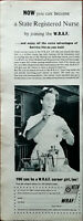 WRAF Become A State Registered Nurse by Joining the wraf Vintage Advert 1957